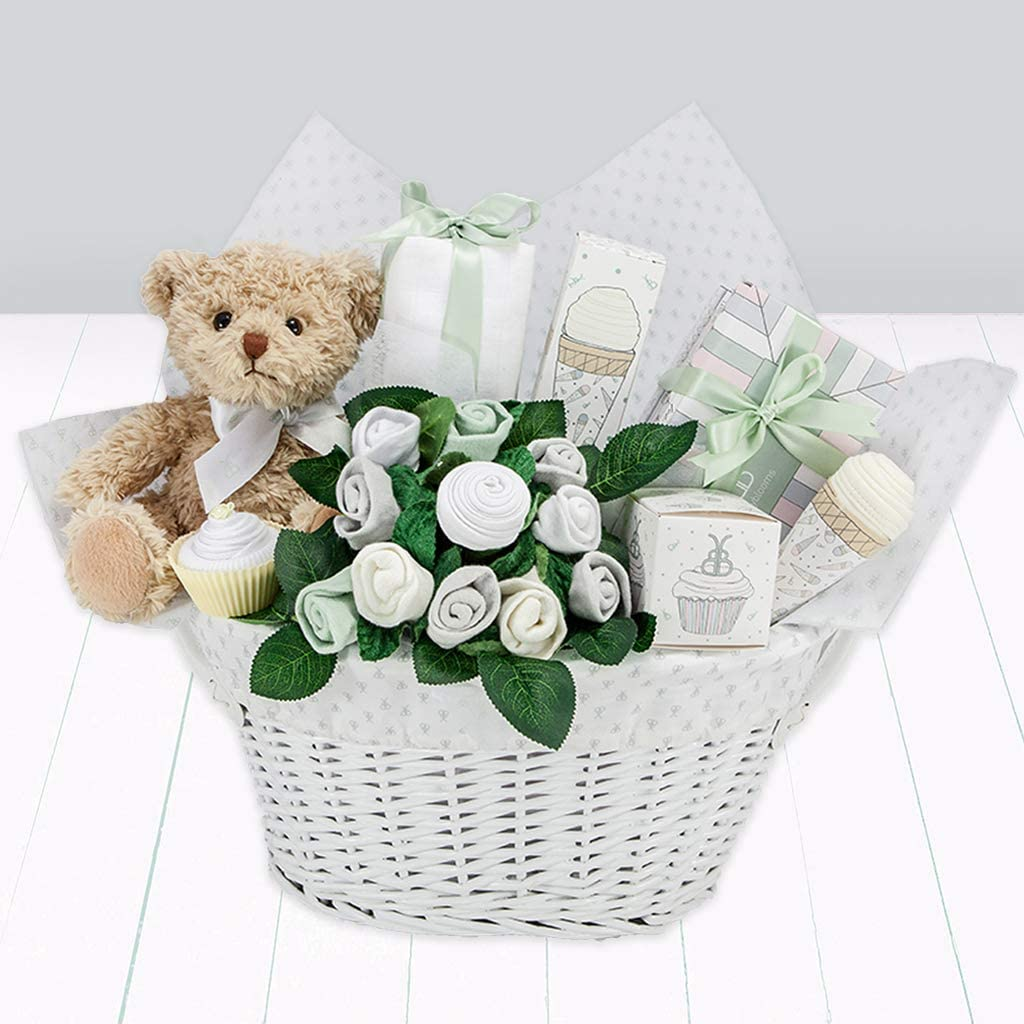 Blue Babyblooms Bertie Bear/'s New Baby Boy Gift Basket