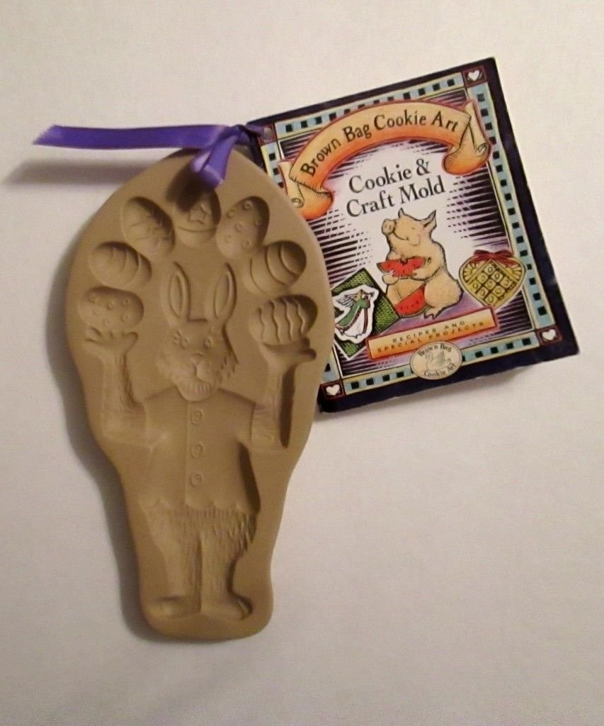 Brown Bag 1993 Easter Bunny Cookie Mold - New