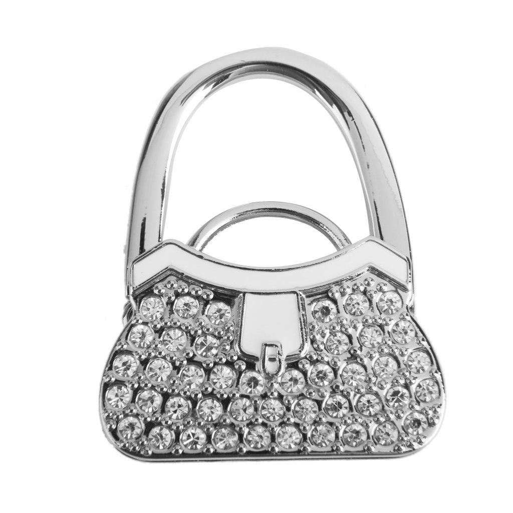Table Foldable Purse Bag Rhinestone Hanger Handbag Hook Holder Safer Gift Generic