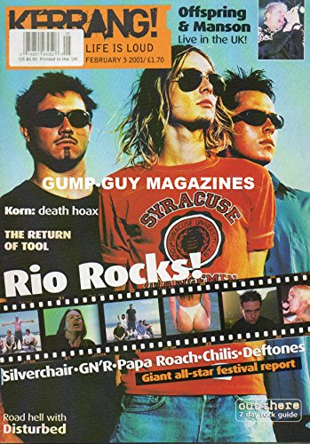 Best buy Kerrang! Issue 838 February , 2001 (Tool cover)