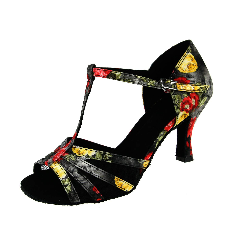 Chaussures Cuir Femme Talon Évasé En Pour Latin Sandales Femmes wZPukTOiX