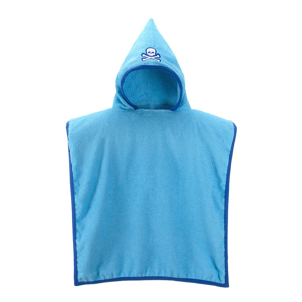Amazon.com : Ama de Casa Cotton Hooded Poncho for 2-4 Year Old Toddlers/Kids - Calavera Brisa (Blue) : Baby