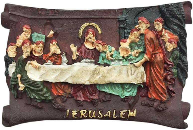 Jerusalem Israel 3D The Last Supper Refrigerator Magnet Tourist Souvenirs Resin Magnetic Stickers Fridge Magnet Home & Kitchen Decoration from China