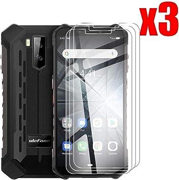 QFSM 3 Pack Película Protectora para Ulefone Armor X3, Resistente al Desgaste Protector de Pantalla para teléfono móvil Vidrio Templado: Amazon.es: Electrónica