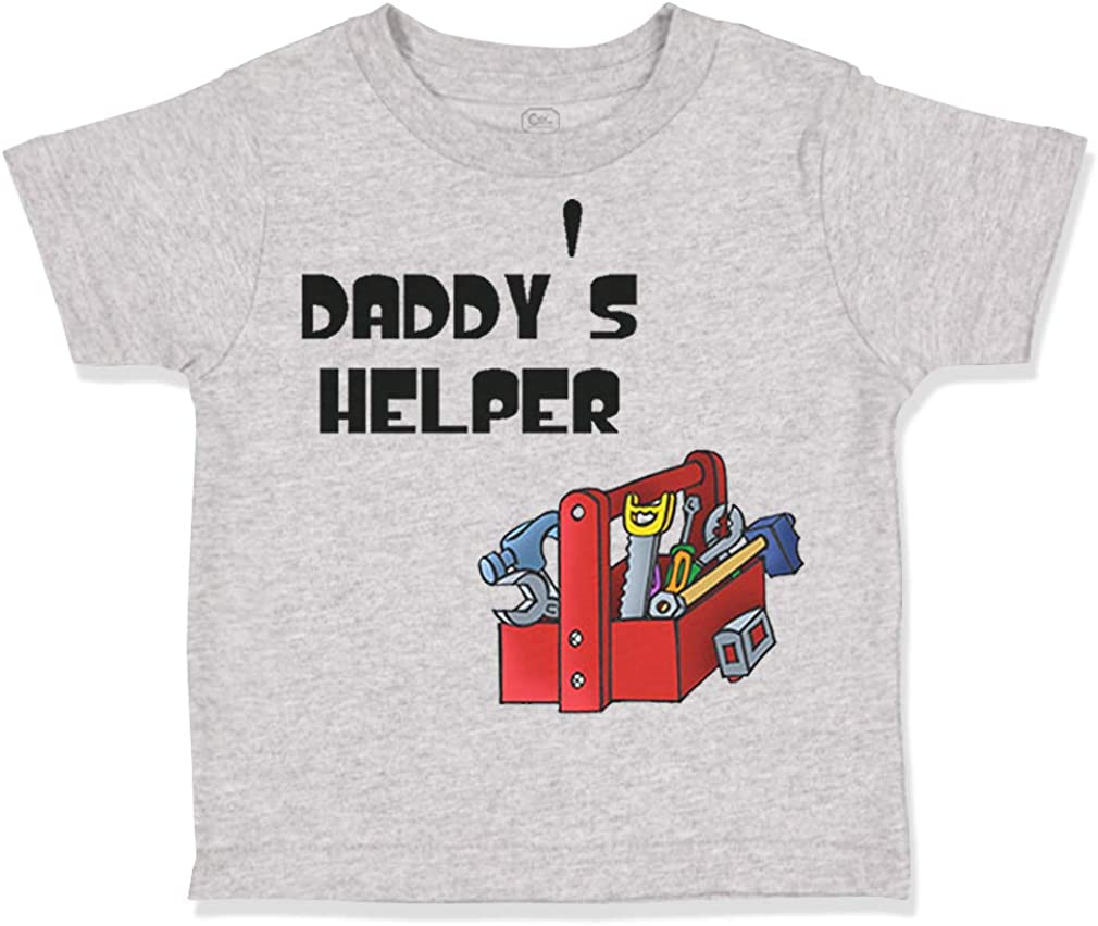 Custom Toddler T-Shirt Picture Tools Box Black Daddys Helper Dad Fathers Day