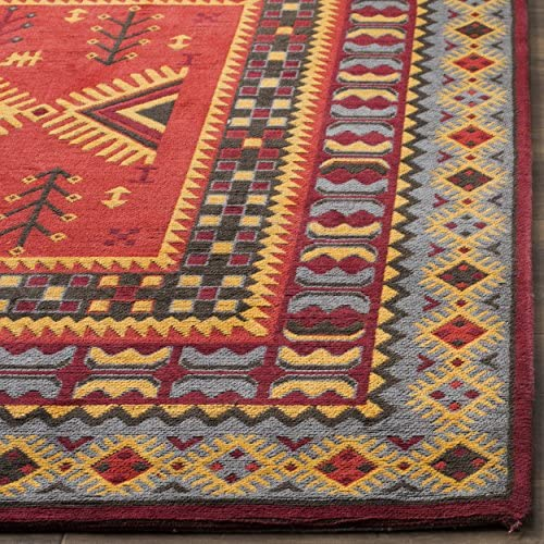 Safavieh Classic Vintage Collection CLV511G Red and Slate Area Rug, 8 x 10