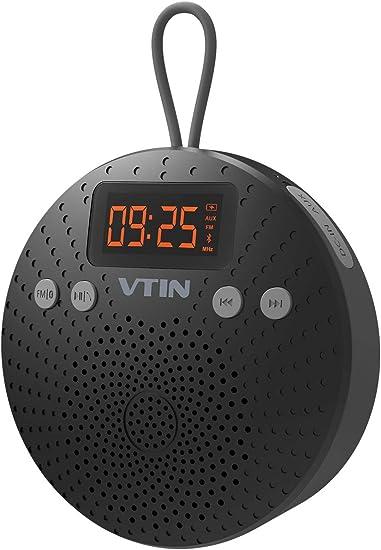 Mini Altavoz Bluetooth, Altavoz Ducha Radio FM, Altavoz Portátil Bluetooth, Micrófono para Llamadas, con Pantalla LCD Reloj, Impermeable IPX5, para Ducha, Piscina, Playa: Amazon.es: Electrónica