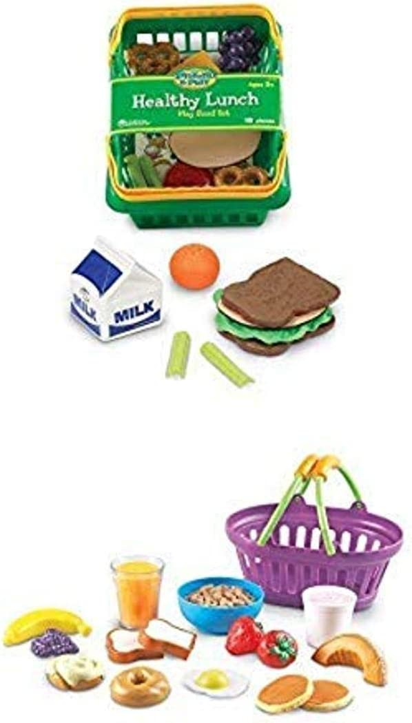 Learning Resources New Sprouts Breakfast & Lunch Pretend Play Food Sets, 2 Play Food Set, Ages 18 mos+