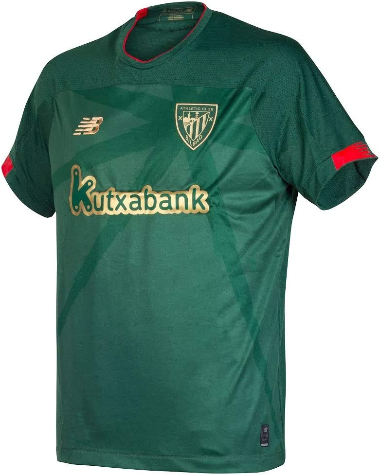 New Balance 2019-2020 Athletic Bilbao Away Football Soccer T-Shirt ...