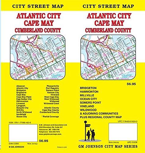 Atlantic City / Cape May / Cumberland County, New Jersey Street Map
