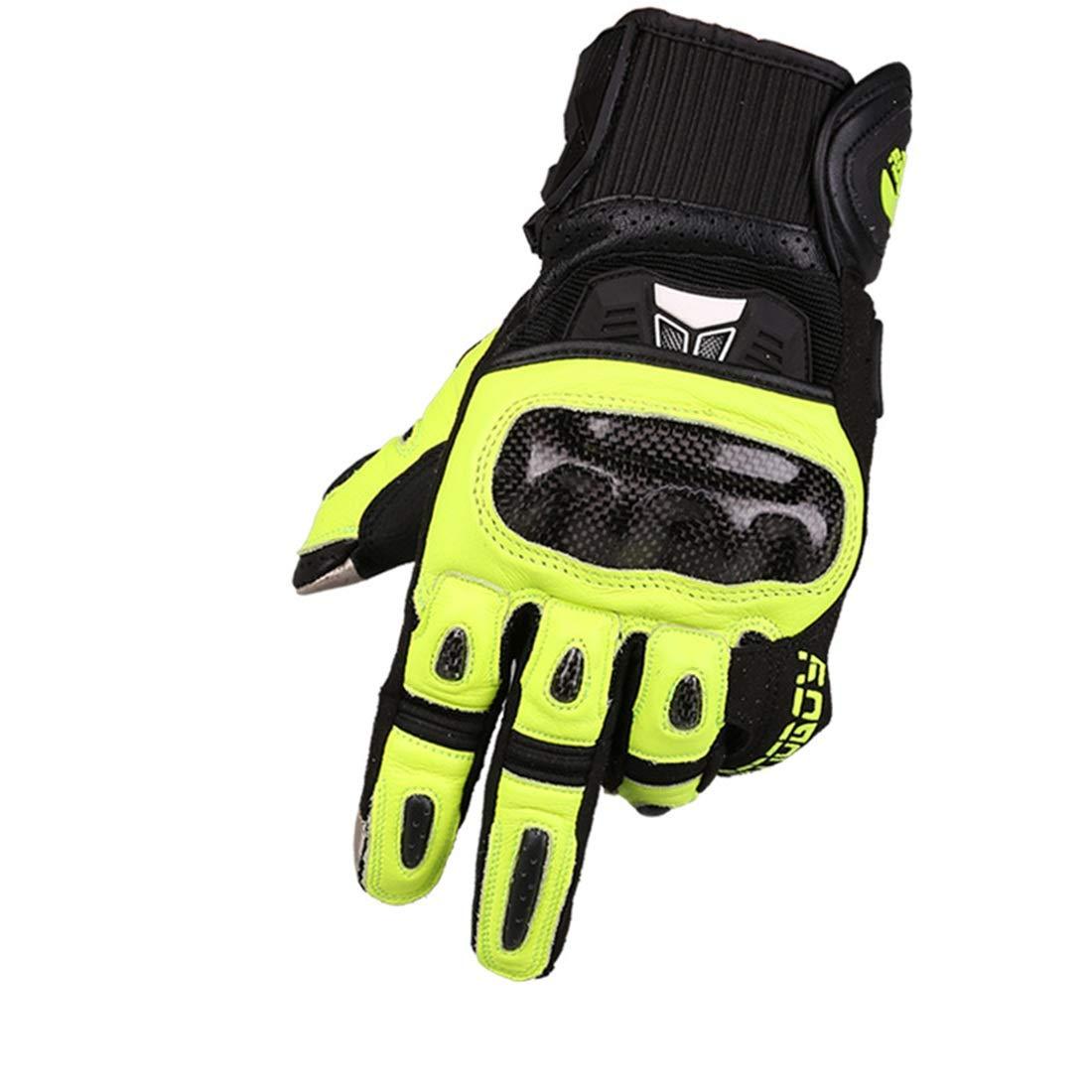 JESSIEKERVIN YY3 Kohlefaser-Motorrad-Vollfingerhandschuhe für Motorrad-Radfahren beim Wandern