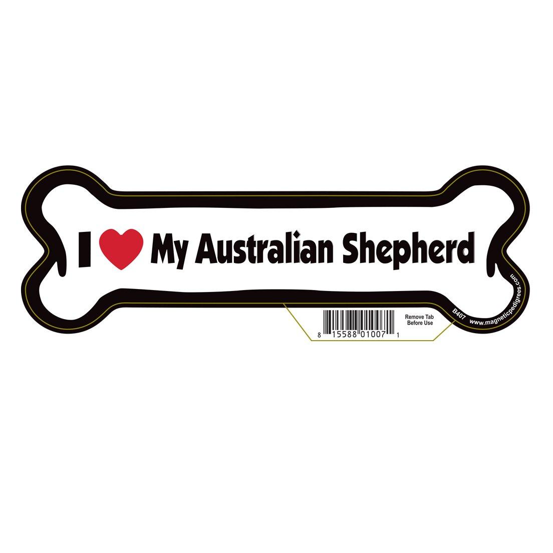 Australian Shepherd Dog Bone Magnet