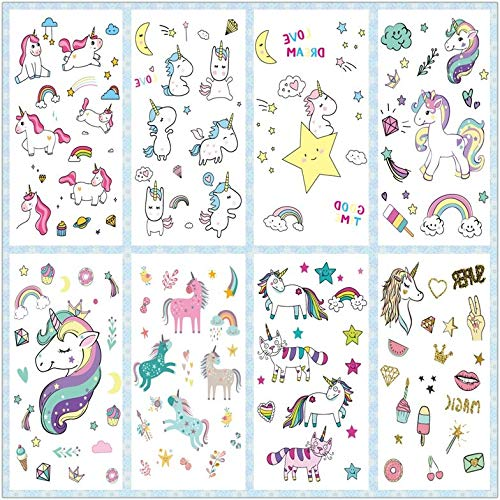 e0510281f Rocooart Cartoon Unicorn Tattoo For Kid Cute Fake Taty Children Tatouage  Temporaire Body Art Waterproof Temporary