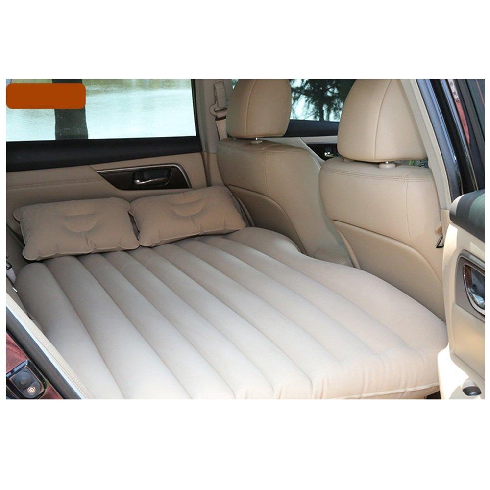 YQQ Selbstfahrendes Reisebett Tragbar Auto Aufblasbares Bett Im Freien Kampieren Luftmatratze (Farbe : Beige)