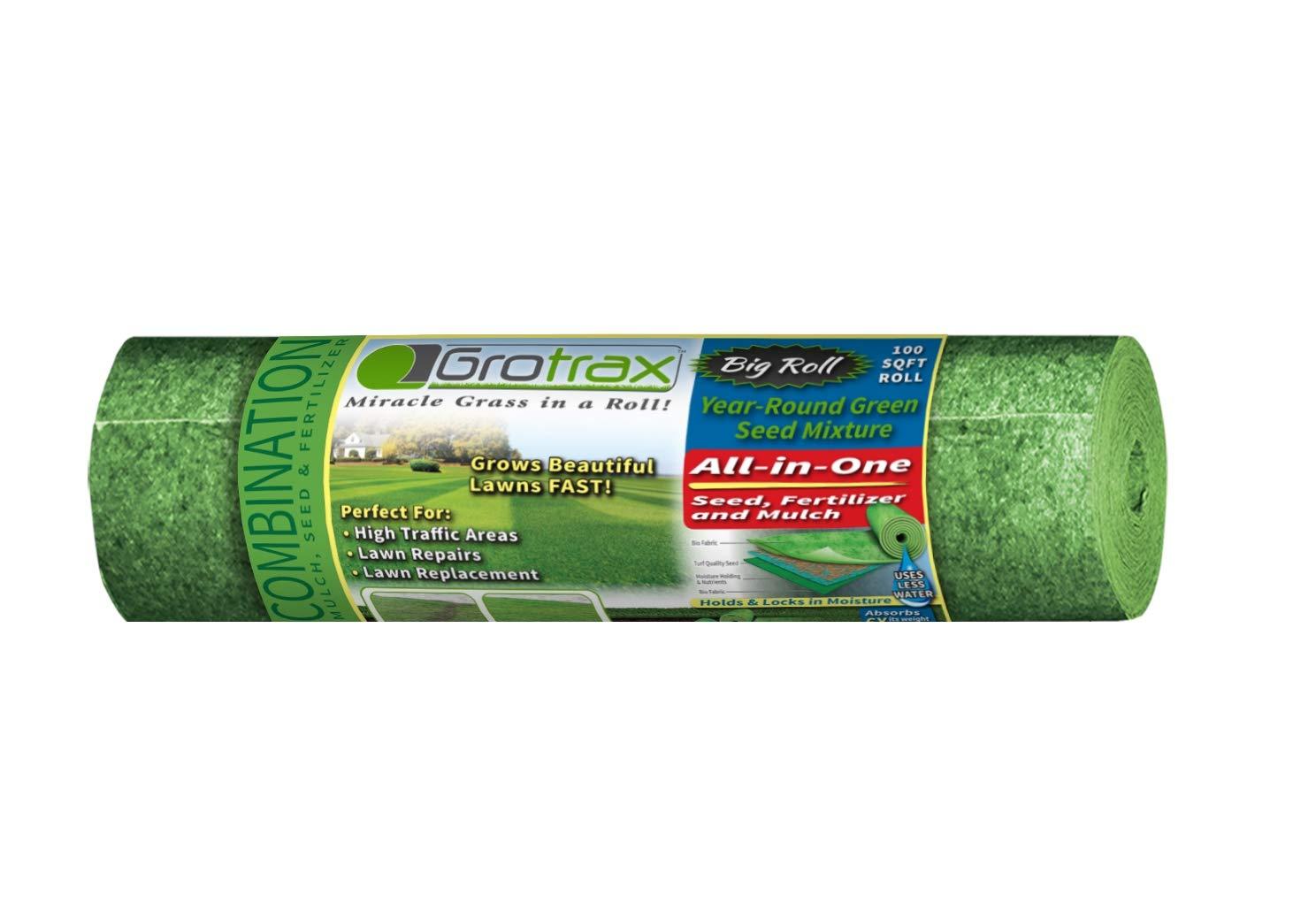 Grotrax''Big Roll'' (100 Square Foot Roll) Grass Seed roll