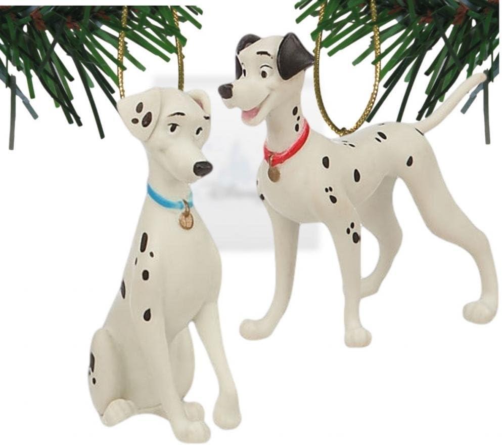 Amazon Com Disney 101 Dalmatians Pongo Perdita 2 Pc Ornament Set Home Kitchen