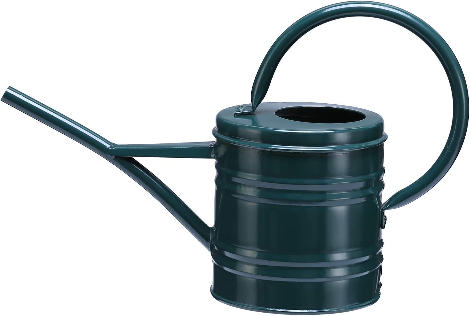 Asvert Metal Watering Can for Plant Flower Garden Bonsai, Strong Body Sprinkling Can for Outdoor Indoor House, Long Spout Plant Watering Use with Comfort Handle, 0.26 Gallon(Dark Green)