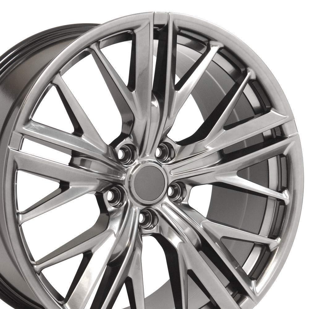 OE Wheels 20 Inch Fits Chevy Camaro ZL1 Style CV25 Hyper Black 20x8.5 Rim