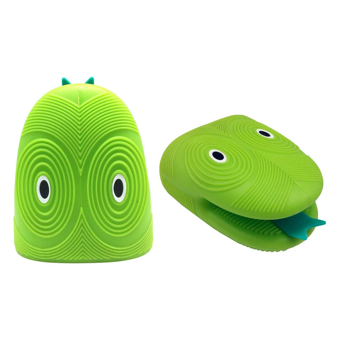 Heat Resistant Kitchen Mitts, Cartoon Snake Head Silicone Oven Gloves Clips Microwave Novelty Kitchenware (2 Pcs)