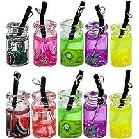 EXCEART 10pcs Funny Dangle Hook Earrings Charm Fruits Drink Bottles Beverage Earrings Charm Bohemian Pendant Earrings Making Supplies Random Color