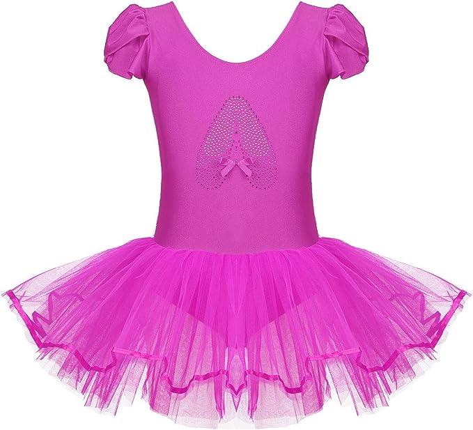 dPois Vestido de Danza Lentejuelas Niña Ropa de Ballet Maillot ...