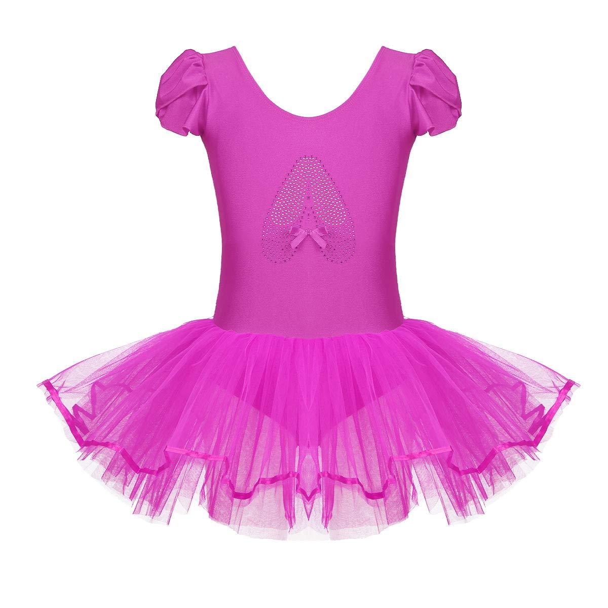 Freebily Girls Sleeveless Cutout Back Ballet Dance Leotard Tutu Dress