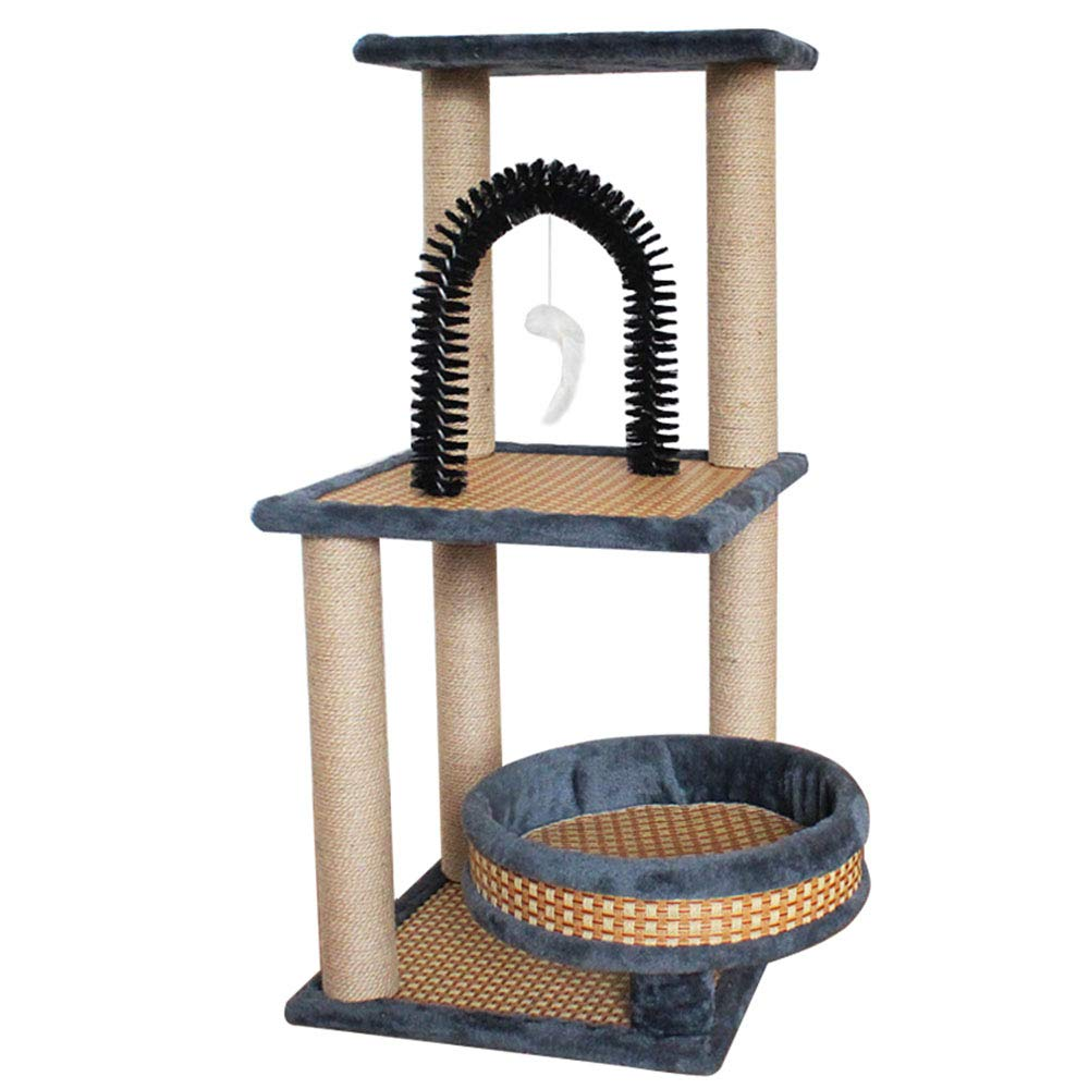 Cat Climbing Frame Rattan Cotton Velvet Positive and Negative Cat Litter Cat Claws.