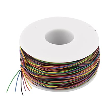 uxcell P/N B-30-1000 200M 30AWG 8-Wire Colored Insulation Test ...