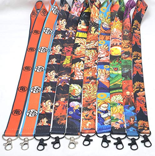 Costume Accessories - Lot 10 PCS Different Dragonball Z Son Goku Vegeta Key Lanyard ID Badge Card Holder Keychain Neck Straps Cosplay Accessories - by YPT - 1 PCs