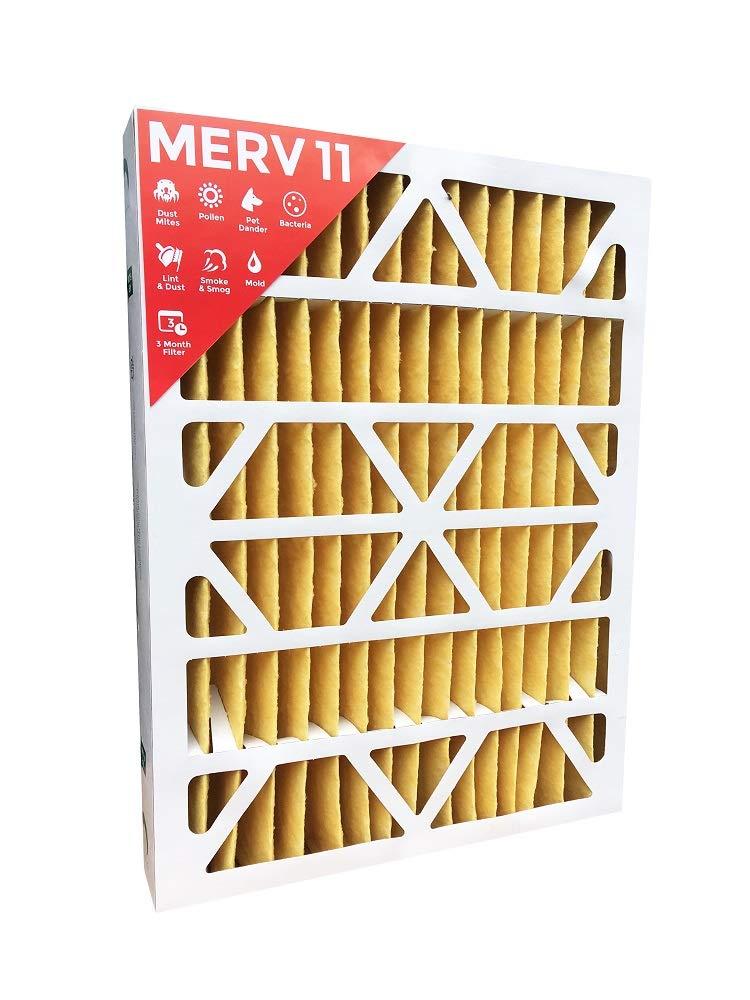 16x25x4 MERV 11 AC Furnace 4'' Inch Air Filters.  Qty 2  (Actual Depth: 3-3/4'')