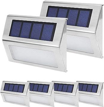 1pc LED Solar Step Lights Outdoor Garden Driveway Dock Safety Night Light Decor