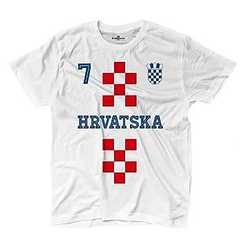KiarenzaFD Camiseta T-Shirt Hombre Nacional Deporte Hrvatska Croacia 7 Futbol Deporte Europe Scudo 1