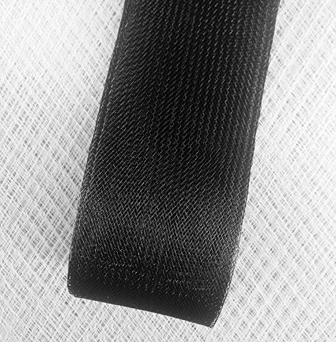 Stiff Polyester Black Horsehair Braid, Selling Per Roll (3'' inch Wide) by Top Trimming