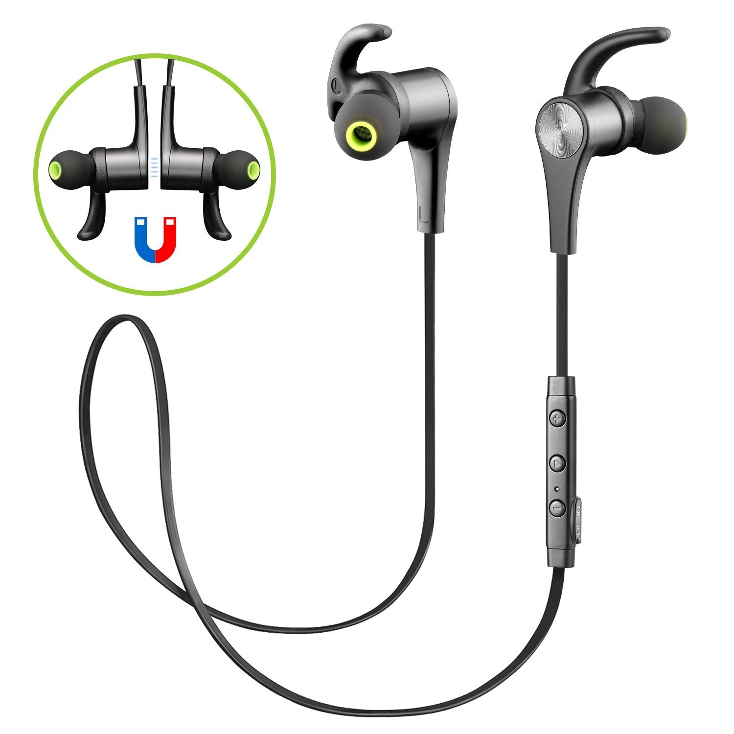 SoundPEATS - Cuffie Bluetooth Auricolari Wireless (Bluetooth 4.1, aptX, A2DP, 6 ore di Riproduzione, Microfono Incorporato, CVC 6.0 ) per iPhone, Galaxy, Tablet, MP3 - Nero