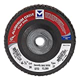 Mercer Industries 270H036 Aluminum Oxide Flap Disc, Type 27, 4 1/2'' x 5/8'' 11 Thread, Grit 36, 10 Pack