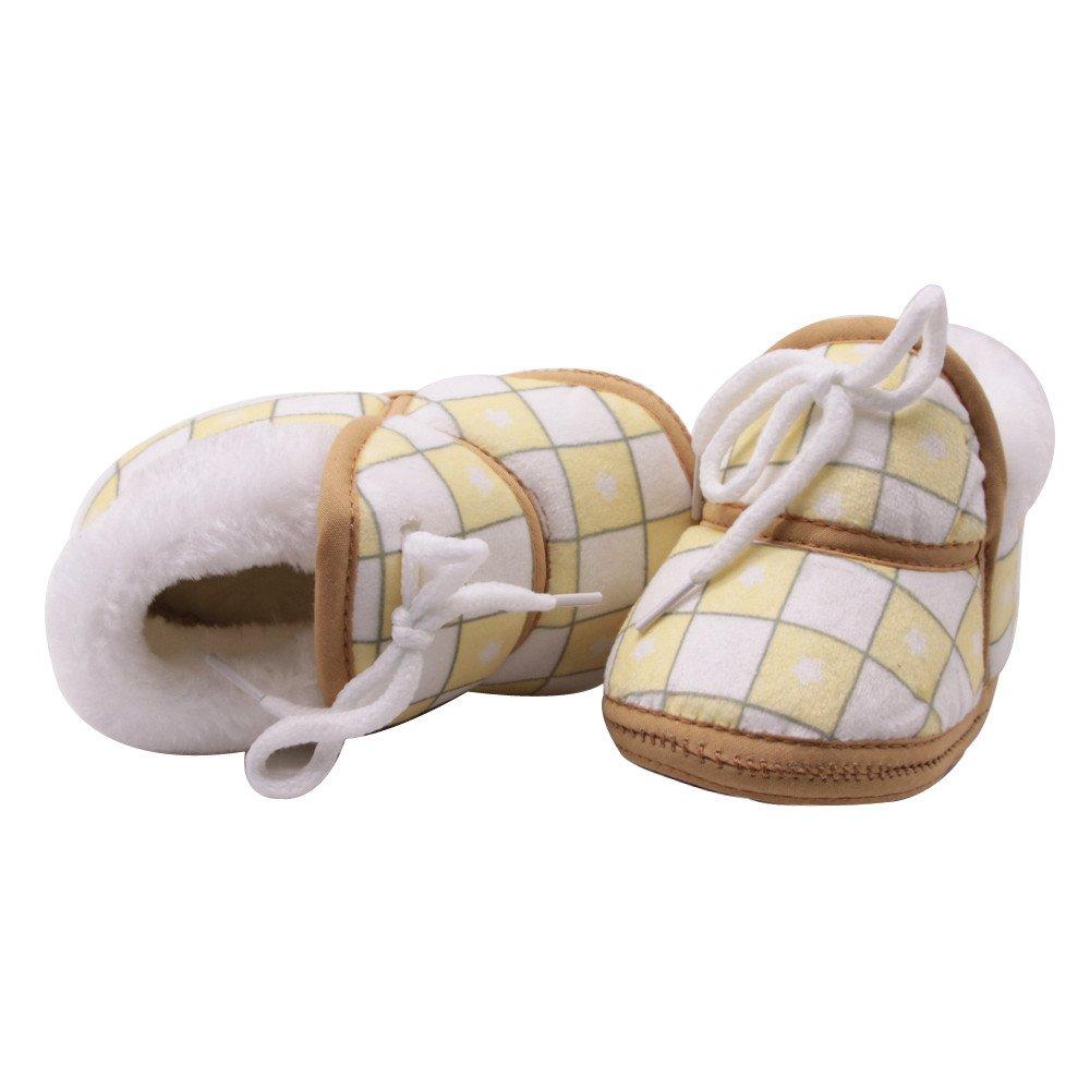 Baulody Baby Boy Girls Soft Sole Warm Winter Infant Prewalker Toddler Snow Boots