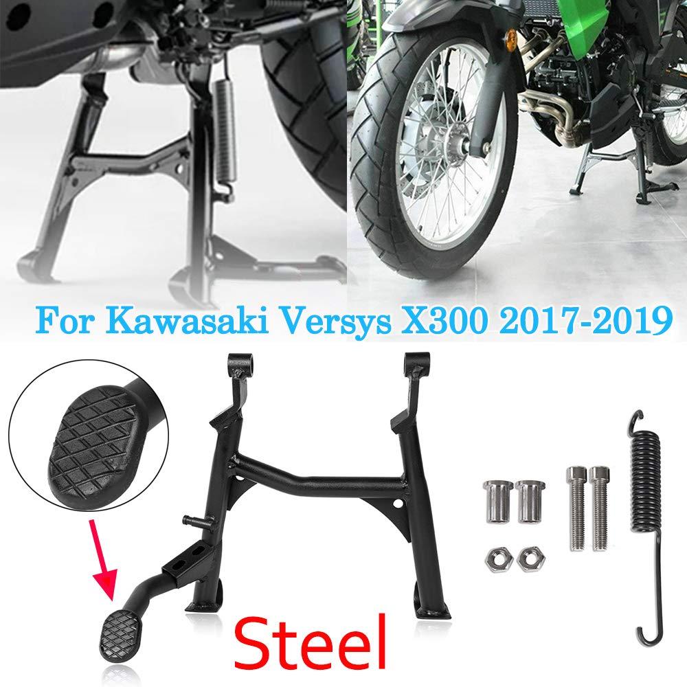 Motocicleta 17 18 19 Versys X-300 Negro Soporte central Soporte de pie Soporte de soporte central for Kawasaki Versys X300 Versys-X300 2017 2018 2019