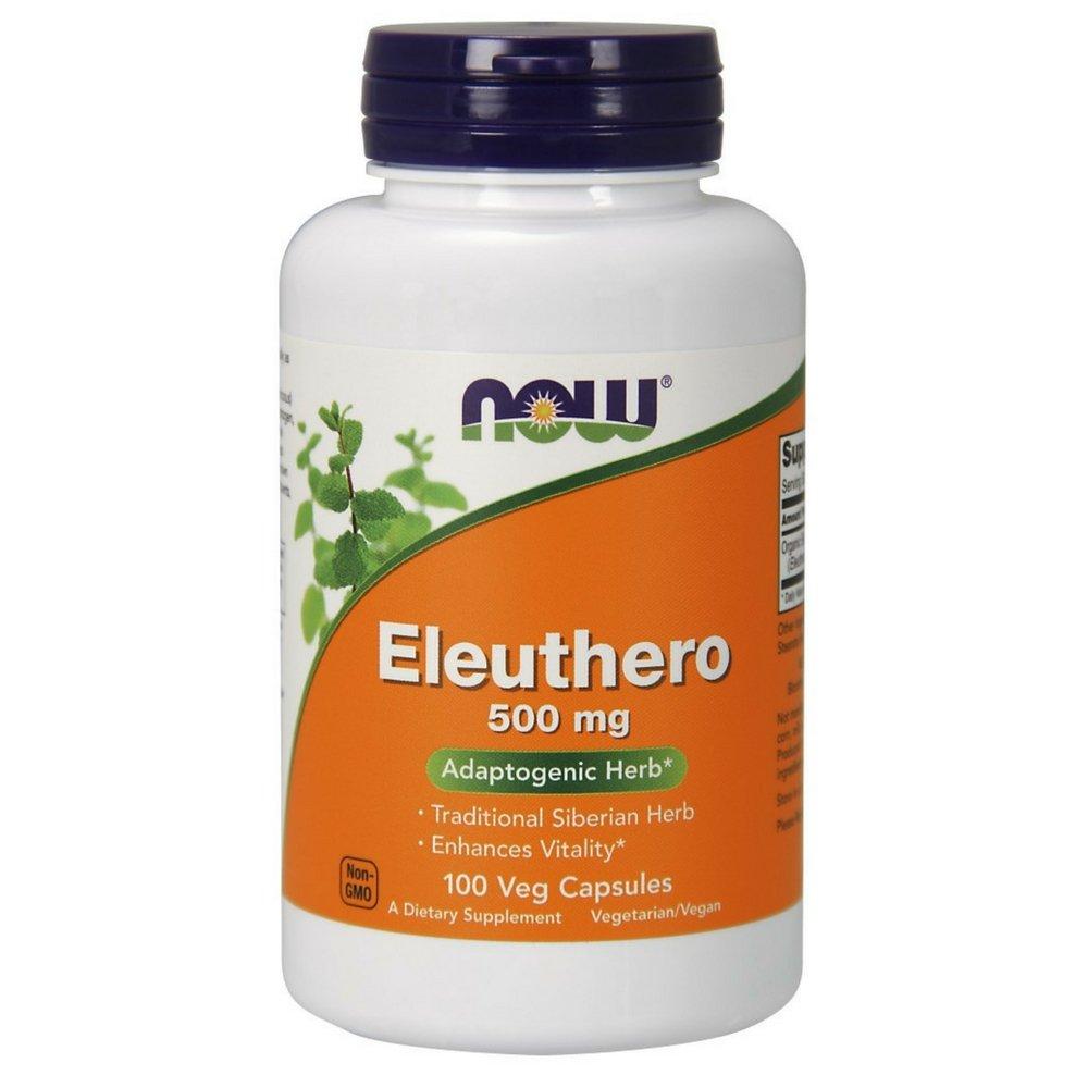 NOW Eleuthero 500 mg,100 Veg Capsules