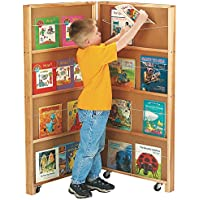 Jonti-Craft 2671JC Mobile Library Bookcase, 2 Sections