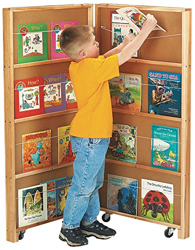 Mobile Library Bookcase - Jonti-Craft 2671JC Mobile Library Bookcase, 2 Sections