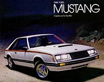 Ford 1980 Mustang Dealer Sales Brochure