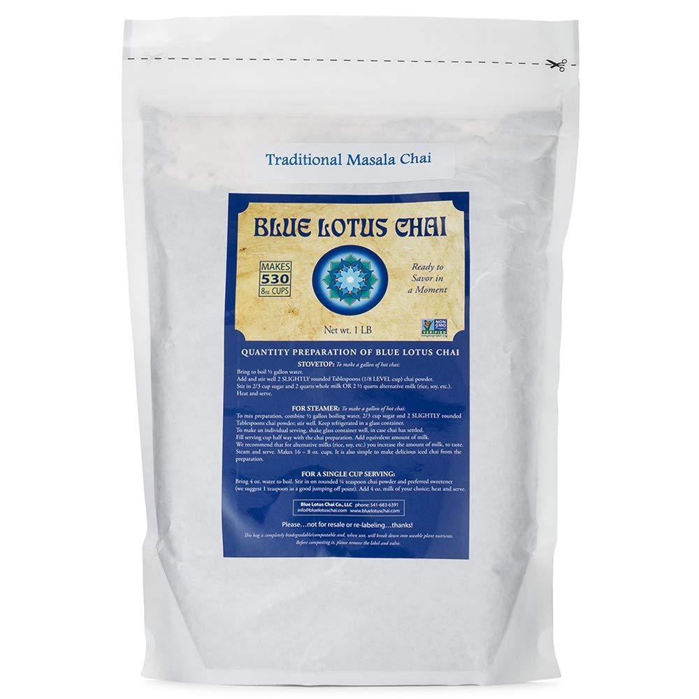 Blue Lotus Traditional Masala Chai - Bulk 1 Lb Bag (530 Cups) by Blue Lotus Chai