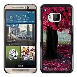 """For HTC One ( M9 ) , S-type Naturaleza Árbol rosado"""" - Arte & diseño plástico duro Fundas Cover Cubre Hard Case Cover"""