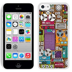 New Beautiful Custom Designed Cover Case For iPhone 5C With Magnetophone (2) Phone Case