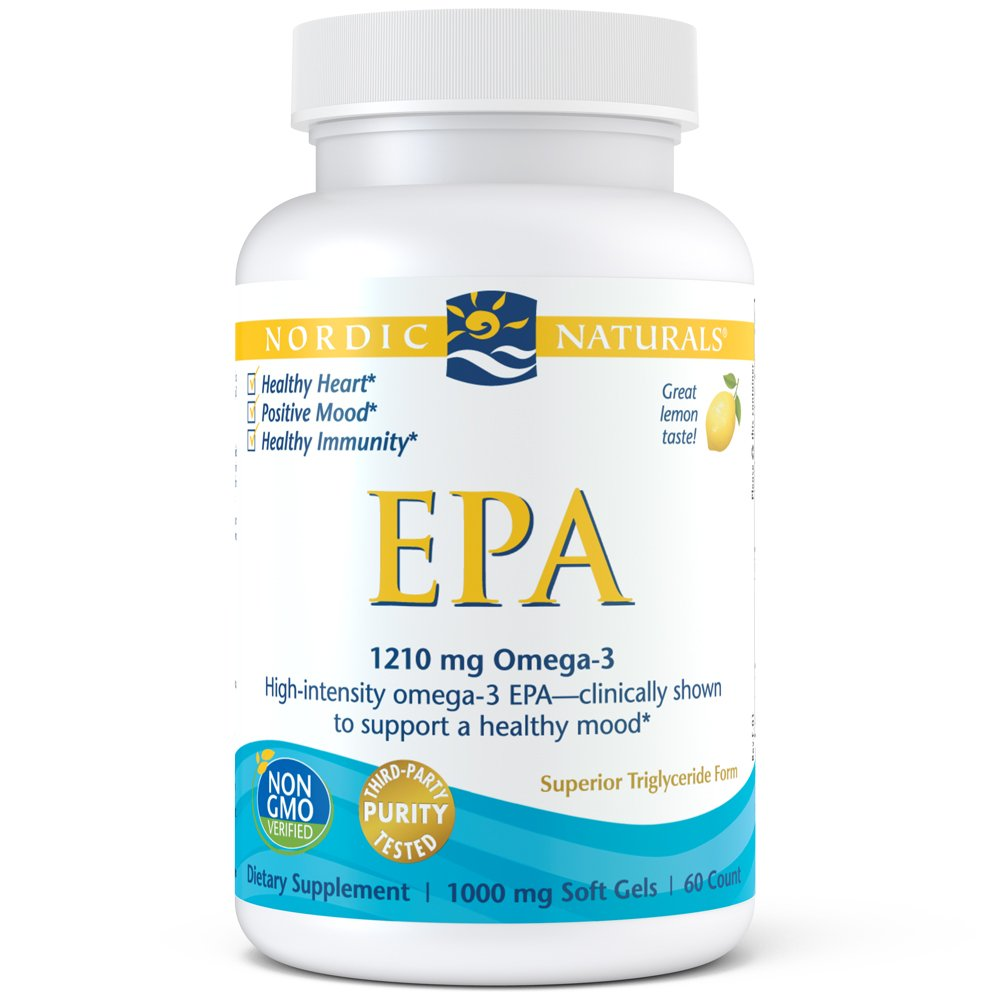 Nordic Naturals - EPA, Clinically Shown to Support a Healthy Mood, 60 Soft Gels by Nordic Naturals