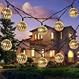 moroccan themed bedroom Solar String Light Outdoor, Goodia 30 LED Gold Moroccan Waterproof Warm White String Lights for Curtain,Bedroom,Patio,Lawn,Landscape,Fairy Garden,Home,Wedding,Holiday,Christmas Tree,New Year,Party