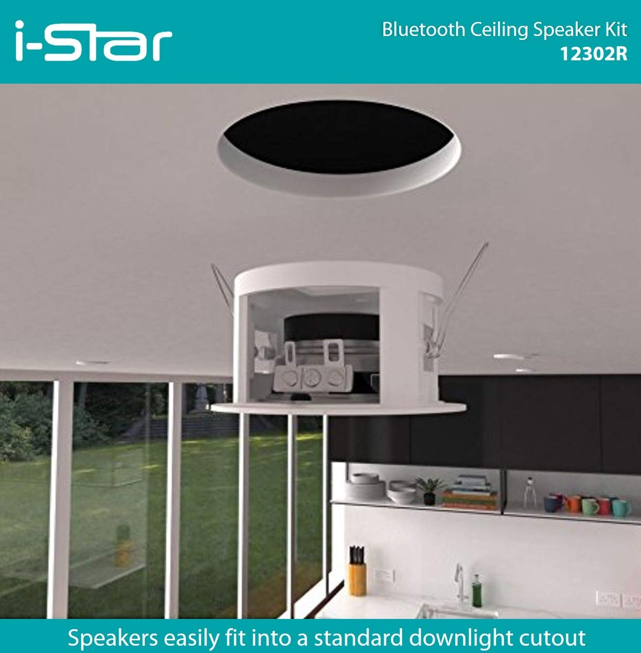 Istar Ceiling Bluetooth Speakers Complete Kit Easy To Amazonco Tv Plafon Roof Electronics