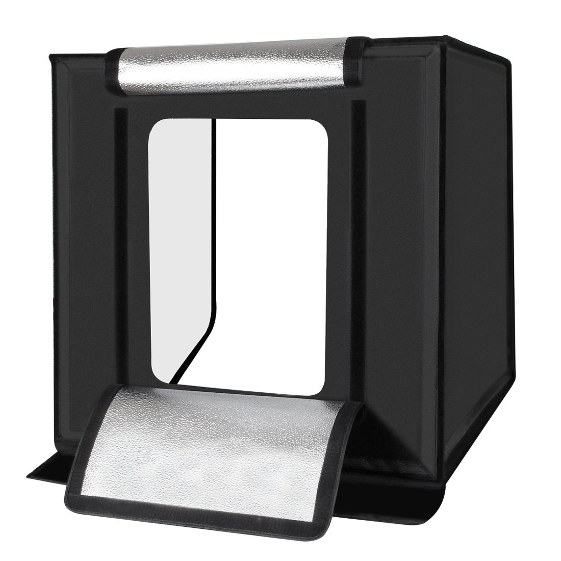 Portable Photo Studio with 3 Backdrops (Black/White/Orange), 16''x16'' Light Box for Jewelry,Toys,Baking,Small Items Photography, Shooting Tent Box Kit Brightness Adjustable by TSLEEN (Image #3)