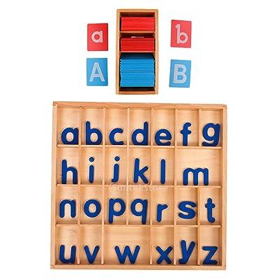 Fenteer Juego De Juguetes De Madera Montessori Teaching Aid - Tarjetas De Alfabeto A-Z con Buzón: Juguetes y juegos