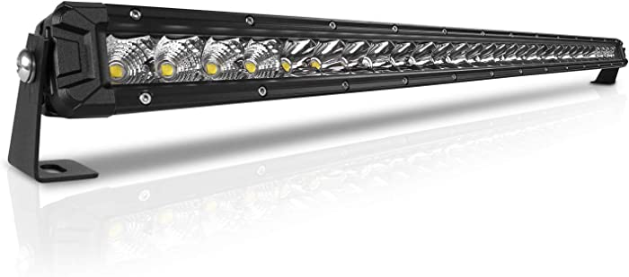 Rigidhorse 32 Inch LED Light Bar Single Row Flood & Spot Beam Combo 30000LM Off Road LED Light Bar Driving Light for Jeep Pickup SUV ATV UTV Truck Roof Bumper